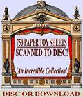 750 VINTAGE PAPER TOYS  MODELS   PRINTABLE CUT-OUT SHEET IMAGES   Vols 1-3