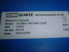 10x SMD-Quarz 10MHz 22pF 49USMX