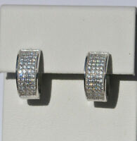 Echt 925 Sterling Silber Ohrringe Creolen Zirkonia Hochzeit Nr 342A