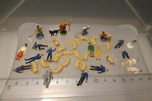 alte Miniaturen Figuren wohl Kunststoff vermutlich Preiser für Eisenbahn 7,8 g