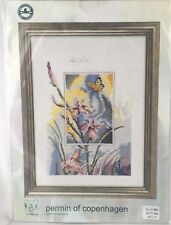 New - Permin of Copenhagen IRIS WITH BUTTERFLY cross stitch needlework kit 3196