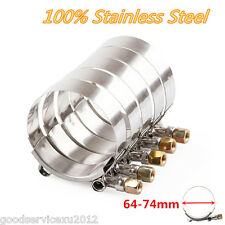 "10 Pcs Chrome 2.5""(64-74mm) Car Automobile Turbo Pipe Hose Coupler Clamps T Bolt"