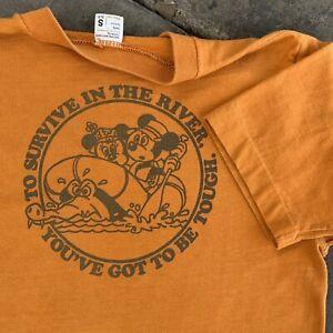 True Vintage 70s Mickey Mouse T Shirt Disneyland Minnie Single Stitch USA sz S