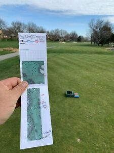Golf Yardage Book Template Do-it-Yourself