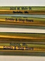 SCHLITZ Beer Advertising Ballpoint Pens - lot of 4 plus 1969 High School Pen