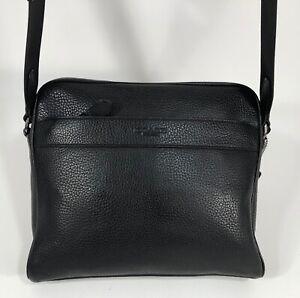 COACH Mens Charles Camera Messenger Crossbody Shoulder Bag Black Leather F24876