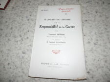 1916.Jugement de l'histoire sur la responsabilité de la guerre.14-18.Tittoni