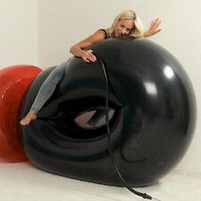 Huge Inflatable Black Swim Ring 5 feet+ (1.5m+) *shiny* Pool Toy big Inflatable