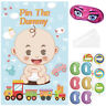 Pin the Dummy on the Baby Shower Party Games Favors Poster ~ Boy Girl Unisex