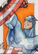 Marvel Bronze Age Sketch Card By Mauro Fodra Captain America