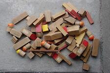 Pièces de jeu de construction ancien en bois jouet enfant