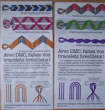 #) lot 6 fiches modèles DMC création bracelets brésiliens