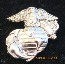 "1/2"" SILVER MINI LAPEL HAT PIN US MARINES EGA EAGLE GLOBE ANCHOR TIE TAC USS FMF"