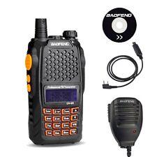 Baofeng UV-6R 136-174/400-520Mhz Pofung FM Radio + UV-5R Cable Mic UK