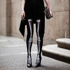 Women Gothic Skull Skeleton Bone Punk Halloween Pantyhose Tights Stockings