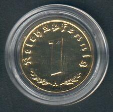 WWII 1 Coin(gilded) One Reichspfennig 1938 A. Jaeger 361, AKS 58