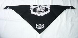 1 piece Skull Jaw Bone Bandana Face Mask Paintball Biker Scarf Head Wrap  NEW :)