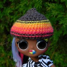 Cute Crochet Pointy Fall Colors Hat - Fits Lol Omg Fashion Dolls