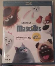 MASCOTAS THE SECRET LIFE OF PETS BLU-RAY BLURAY NUEVO DIBUJOS INFANTIL