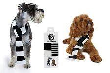Bufanda Perro Blanco y Negro Bufanda Futbol, Newcastle Derby Notts County Juventus