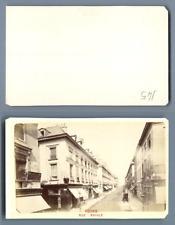 France, Tours La rue Royale  CDV vintage albumen carte de visite,  Tirage albu