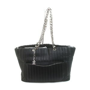Chanel Tote Bag  Black Leather 2208698