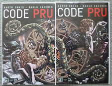 CODE PRU #1 & 2 SET..CONNECTING VARIANT..GARTH ENNIS..AVATAR 2016 1ST PRINT..NM