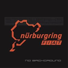 Fiat Nurburgring Decal Sticker logo emblem abarth 500 500c racing italy Pair
