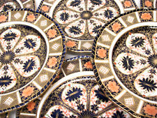 """9 Royal Crown Derby OLD IMARI 9"""" Luncheon Plate Set Lot ROPE Queens Gadroon"""