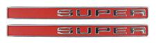 1971 1972 GMC Truck Front Fender Emblem Super Pair