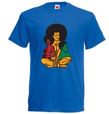 Afro womens T-shirt (Natural Hair style) Blue