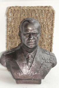 Bust of George Zhukov - Soviet commander gypsum sculpture