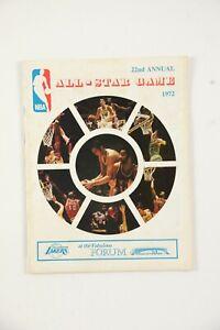 1972 NBA All-Star Game Basketball Program
