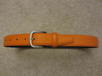 $95 NEW WITHOUT TAGS JACK SPADE Orange + Black Genuine Leather Belt Size 28