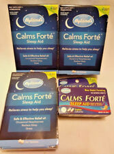 4 PACK HYLAND'S CALMS FORTE SLEEP AID 150 TABLETS 32 CAPLETS FREE FAST SHIPPING