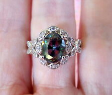 Mystic Topaz Butterfly Ring-Rainbow Topaz-Silver Womens size 6.5