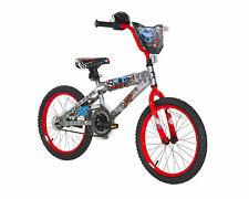 "18"" Boys Bike, Hot Wheels, Dynacraft, Silver, Red, Ages 6-9"