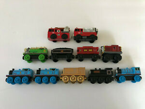 Thomas & Friends Wooden Railway Learning Curve Lot of 11 Train Cars Douglas Fire
