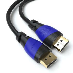 3m DisplayPort 1.4 Kabel | DP 8K Full U-HD HBR3 24K vergoldet Highspeed Gaming