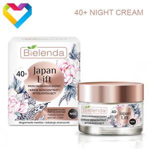 Bielenda JAPAN LIFT Smoothing Antiwrinkle NIGHT Face Cream 40+ Mature Skin 50ml
