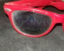 80s Vintage Red DEF LEPPARD Reflective Sunglasses