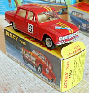 Sublime Vrai Dinky toys Meccano France Alfa Roméo rallye 1401 + boite origine