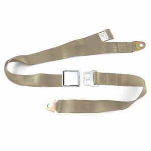 2pt Tan Lap Seat Belt Airplane Buckle - Each classic brass sprint car bert