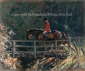 Fox hunting limited edition print by Malcolm Coward. Bridge Over Troubled Water