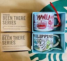 2 Starbucks Been There Series Manila Philippines Demitasse Ornament Mug 2 fl. oz