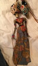 Vintage Wayang Golek Wooden Bali Puppet Indonesia Asian Stick Shadow Puppet 26""
