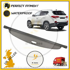 NEW PARCEL SHELF LOAD COVER BLIND BLACK FOR SSANGYONG REXTON RETRACTABLE 2017 >