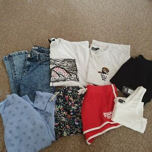 Ladies Womens Clothing Bundle Tops Jeans Shorts Cardigan Jumper Size 10 12