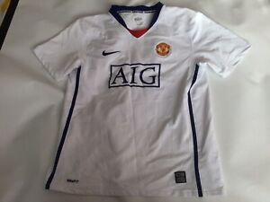 Kids Genuine Manchester United Away Sleeved Football Shirt Jersey Xl 13-15 Years