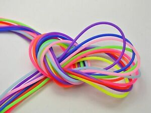 50 Meter Mixed Color 2mm Hollow Rubber Tubing Jewelry Cord Cover Memory Wire